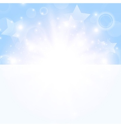 bright day background with stars vector image