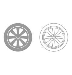 car wheel it is black icon vector image vector image