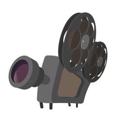 Cinema camera cartoon icon vector image
