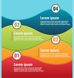 Curve color info graphic template vector