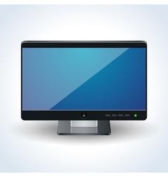 Desktop monitor vector image