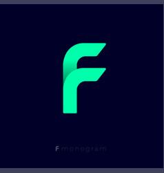 f origami logo vector image