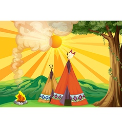 Indian Tipi vector image