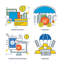 insurance types of insurance finance and options vector image