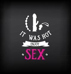 Sex shop logo and badge design vector image