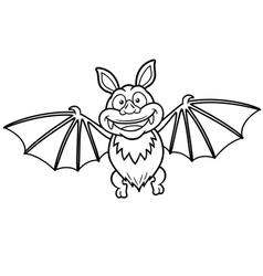 Bat outline vector image