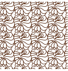 black and white ethnic lines seamless pattern vector image vector image