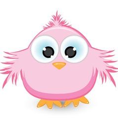 cartoon pink sparrow vector image