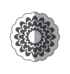 contour flower with abstract petals icon vector image