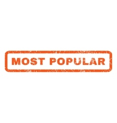 Most Popular Rubber Stamp vector image vector image