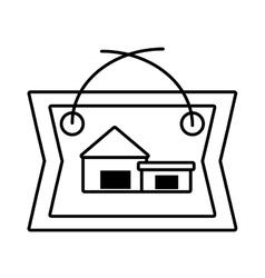 Real estate cottage housing poster outline vector