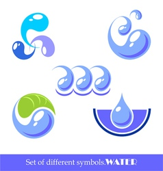 set of symbols water vector image