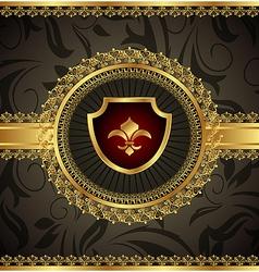 vintage with heraldic elements - vector image vector image