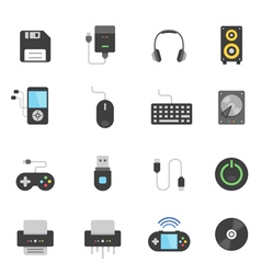 Color icon set - devices accessory vector image