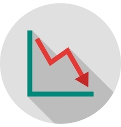 Declining Line Graph vector image vector image