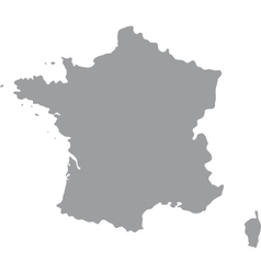 France Map of gray on a white background vector image