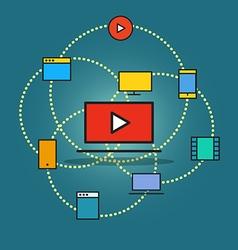 Modern communication scheme vector image vector image
