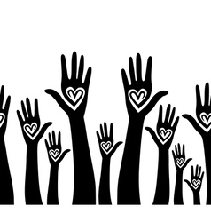 people support hand vector image vector image
