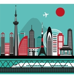 Asian city vector image vector image