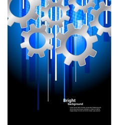 Background with gears vector image