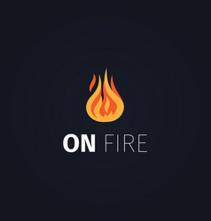 on fire flame logo template vector image