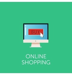 online shopping icon Concept of online vector image vector image