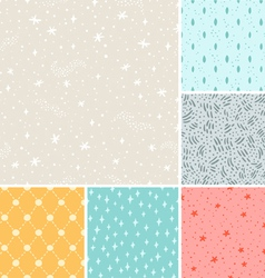 Stardust seamless patterns collection vector image vector image