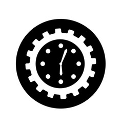 time clock isolated icon vector image vector image