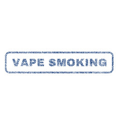 vape smoking textile stamp vector image