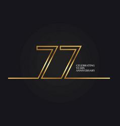 77 years anniversary vector