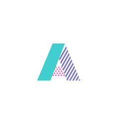 a geometric letter logo icon design vector image