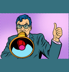 a man with a megaphone vector image