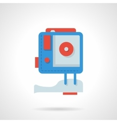 Action camera flat color design icon vector image
