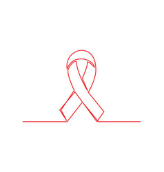 aids one line drawing vector image