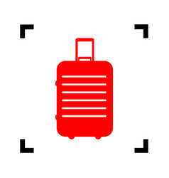 baggage sign red icon inside vector image