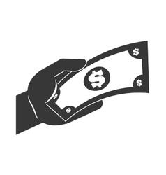 bill silhouette money icon graphic vector image