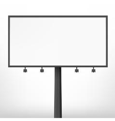 Blank black billboard vector image