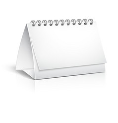 Blank spiral desktop calendar vector image