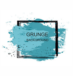 blue grunge brush paint texture design stroke post vector image