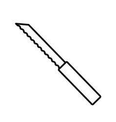 bread knife isolated vector image