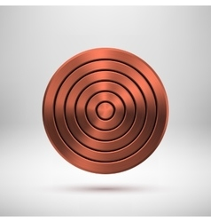 Bronze Technology Circle Metal Badge vector