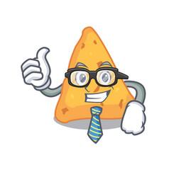 Businessman nachos character cartoon style vector