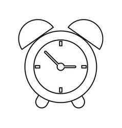 clock time alarm hour thin line vector image