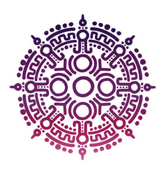 Colorful ancient mexican mythology symbol vector