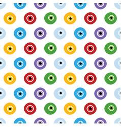 colorful eyes eye balls pattern vector image