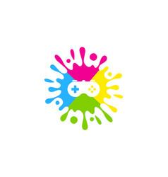 console paint logo icon design vector image