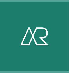 Cool and modern logo initials ar design 2 vector