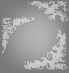Corner element ornate decorated baroque roccoco vector image