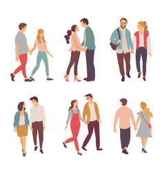 couple at date people dating man and woman in love vector image