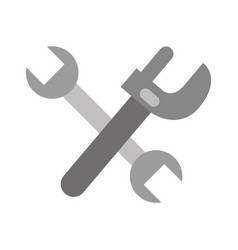 Cross wrench tools isolated icon vector